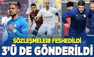 BB Erzurumspor'da 3 futbolcu ile yollar ayrıldı