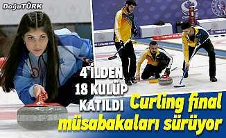 Erzurum'da Türkiye Curling Ligleri Final Müsabakaları sürüyor