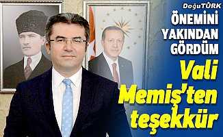 Kovid-19'u yenen Erzurum Valisi Okay Memiş teşekkür etti