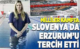 Slovenyalı milli yüzücüler, kamp yapmak için Erzurum'u tercih etti