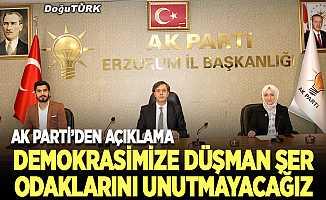 AK Parti Erzurum Teşkilatı 27 Mayıs darbesini kınadı