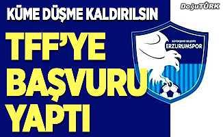 BB Erzurumspor TFF'ye başvurdu