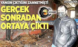 Erzurum'da tarihi çay ocağı kundaklandı