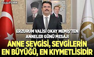 Erzurum Valisi Okay Memiş'ten Anneler Günü mesajı