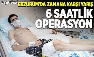 Erzurum'da zaman karşı yarış; 6 saatlik operasyon!