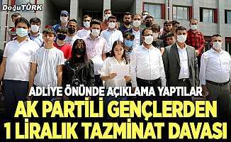 AK Partili gençlerden 1 liralık dava