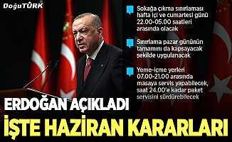 Erdoğan, haziran ayına ilişkin kademeli normalleşme takvimini açıkladı