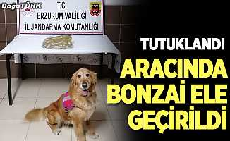 Erzurum'da aracında uyuşturucu ele geçirilen zanlı tutuklandı