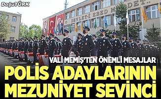 Erzurum'da polis adaylarının mezuniyet sevinci