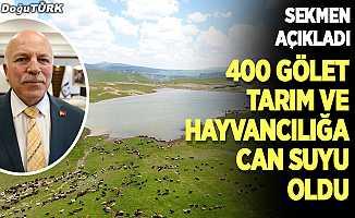 Erzurum'a 400 gölet