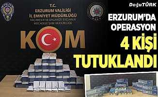 Erzurum'da 4 kişi tutuklandı