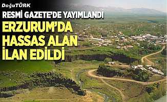 Erzurum'da kesin korunacak hassas alan ilan edildi