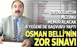 Osman Belli'nin zor sınavı!