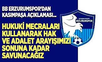 BB Erzurumspor'dan Kasımpaşa açıklaması…