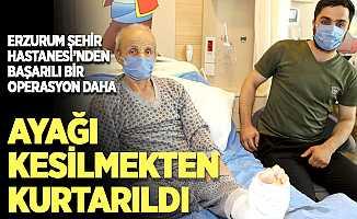 Erzurum Şehir Hastanesinden başarılı bir operasyon daha