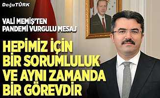 Erzurum Valisi Okay Memiş'ten Kurban Bayramı mesajı