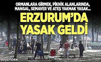 Erzurum'da ormanlık alanlara girmek yasaklandı