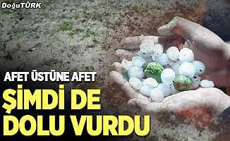 Erzurum'da sağanak ve dolu etkili oldu