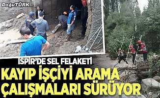 İspir'de sele kapılan işçiyi arama çalışmaları sürüyor