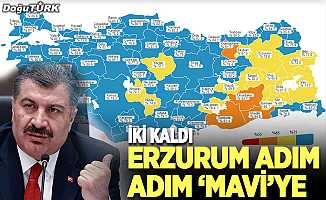 Erzurum adım adım 'mavi'ye