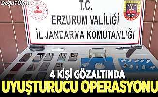 Erzurum'da uyuşturucu operasyonu; 4 gözaltı