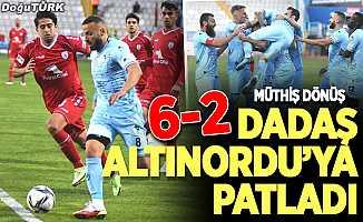 Erzurumspor'dan Altınordu'ya yarım düzine gol!