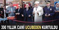 300 YILLIK TENEKE MİNARELİ CAMİ RESTORE EDİLDİ