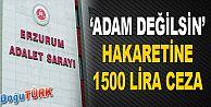 """""""ADAM DEĞİLSİN"""" HAKARETİNE BİN 500 TL ADLİ PARA CEZASI"""