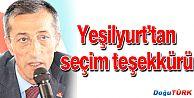 AK PARTİ İL BAŞKANI YEŞİLYURT'TAN SEÇİM TEŞEKKÜRÜ