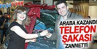 "ARABA KAZANDI,"" TELEFON ŞAKASI"" ZANNETTİ"