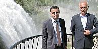 ARSLAN VE ÖZSOY'DAN ŞELALE'YE DAVET