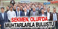 BAŞKAN SEKMEN OLUR'DA MUHTARLARLA BİRARAYA GELDİ