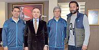BB ERZURUMSPOR TEKNİK HEYETİNDEN VALİ ALTIPARMAK'A ZİYARET