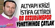 BB ERZURUMSPOR'DA ALTYAPI KRİZİ İSTİFA GETİRDİ