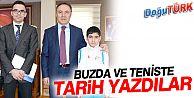 BUZ'DA VE TENİS'TE TARİH YAZDILAR