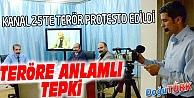 CANLI YAYINDA AĞIZ BANTLI TERÖR PROTESTOSU