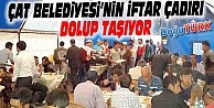 ÇAT BELEDİYESİ'NİN İFTAR ÇADIRI DOLUP TAŞIYOR