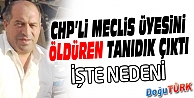CHP'Lİ MECLİS ÜYESİNİ, ARKADAŞININ EŞİ ÖLDÜRDÜ
