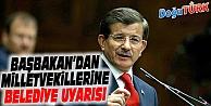 DAVUTOĞLU'NDAN MİLLETVEKİLLERİNE UYARI!