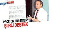 ERZURUM MİLLETVEKİLİ ADAY ADAYI PROF. DR. TÜRETKEN'E ŞİİRLİ DESTEK