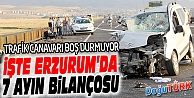 ERZURUM'DA 7 AYDA 878 TRAFİK KAZASI MEYDANA GELDİ