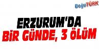 ERZURUM'DA BİR GÜNDE, 3 ÖLÜM
