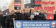 ERZURUM'DA MEMURSEN'E BAĞLI EĞİTİMBİRSEN ZAM İSTEDİ