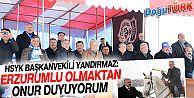 HSYK BAŞKANVEKİLİ VE KURUL ÜYELERİNE ERZURUM'DA COŞKULU KARŞILAMA