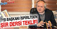 """İSPİRLİ'DEN OKULLARDA """"ŞİİR"""" DERSİ TEKLİFİ"""