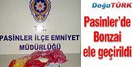 PASİNLER'DE POLİSTEN KAÇAN İKİ ŞÜPHELİDEN BONZAİ ELE GEÇİRİLDİ