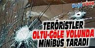 PKK'LILAR MİNİBÜS TARADI: 1 YARALI