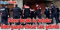 POLİS BIÇAKLI ŞÜPHELİYİ BİBER GAZIYLA ETKİSİZ HALE GETİRDİ