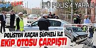 POLİS ŞÜPHELİ KOVALAMACASI KAZA İLE SONUÇLANDI: 4 YARALI