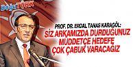 PROF. DR. KARAGÖL'DEN TEMAYÜL TEŞEKKÜRÜ